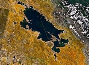 Satellitenbild Titicaca-See