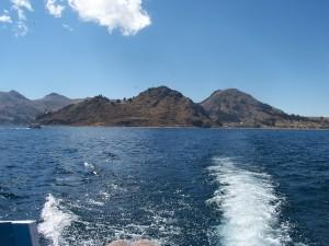 Abfahrt Titicacasee Bolivien zur Isla del Sol
