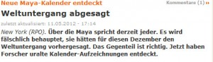 2012-Insider - neuer Mayakalender gefunden -  Weltuntergang abgesagt