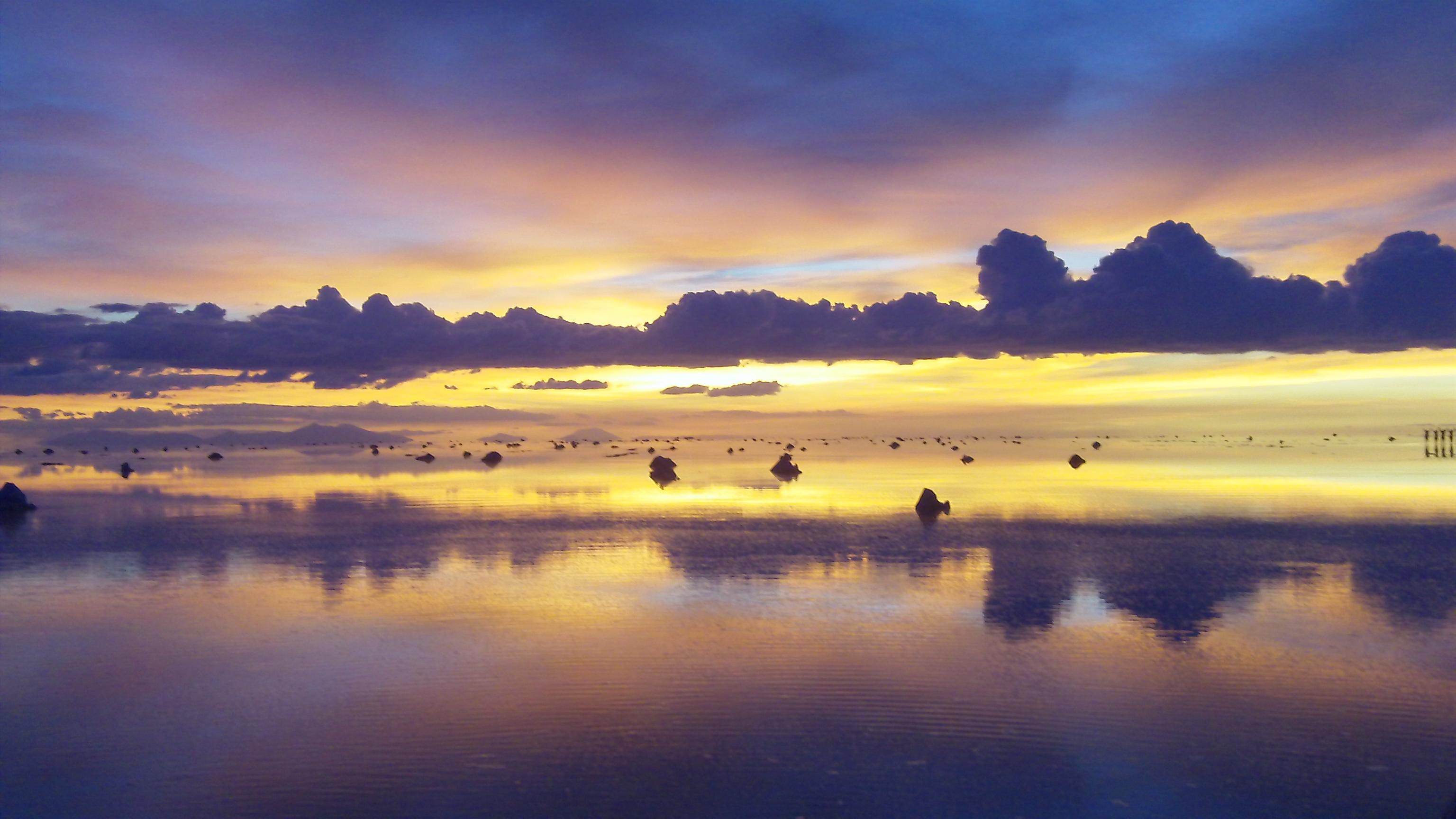 2012-Insider - Sonnenuntergang nach der Neumond-Zeremonie am 21.02.2012 im Salar de Uyuni