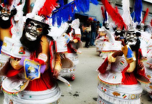 Teufel beim bolivianischen Karneval in Oruro